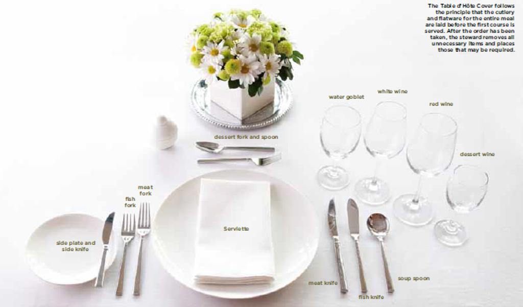 Table settings pauli antoine for Table d hote 52